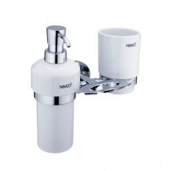 NIMCO Unix držiak na zubné kefky, pohár a dávkovač UN1305731K26