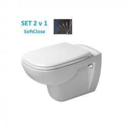DURAVIT D-Code misa WC závesná so sedátkom so SoftClosom
