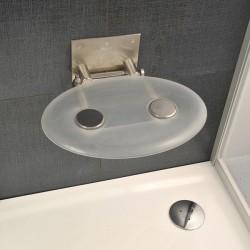 RAVAK OVO-P-CLEAR sedátko do sprchy sklopné farba číra