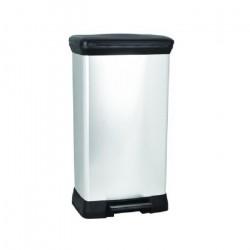 Kôš odpadkový CURVER DECOBIN Pedal, 50 l, strieborný 02162-582