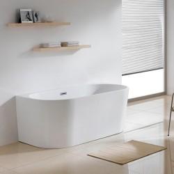 LAVITA CALDERA S voľne stojaca vaňa 150 x 80 x 58 cm so sifónom Click-Clack biela lesklá 2.trieda