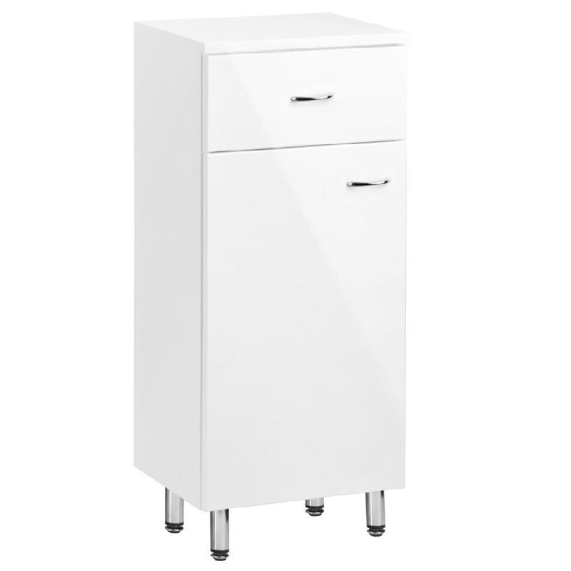 KFA FAN Blanc skrinka stojaca nízka 35 x 83 cm biela lesklá lak 1695212501