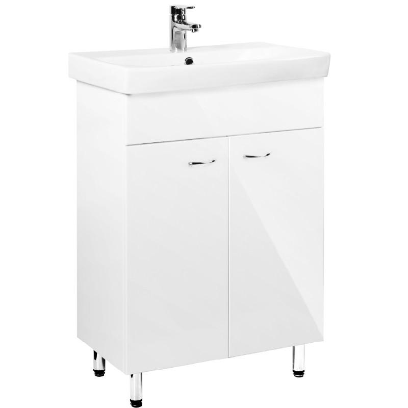 KFA FAN Blanc 52 umývadlová skrinka stojaca k umývadlu FAN 55 biela lesklá lak 1695212155
