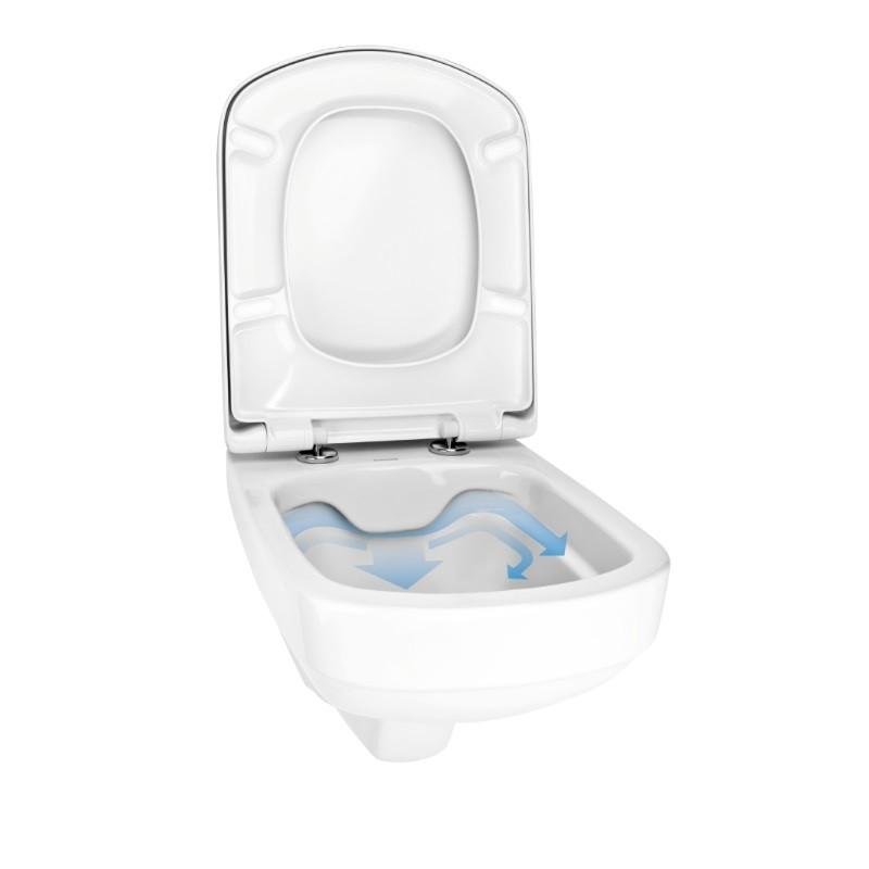 KFA MERO misa WC závesná WaterClean 36 x 52 cm biela s RIMLESS 1620112300