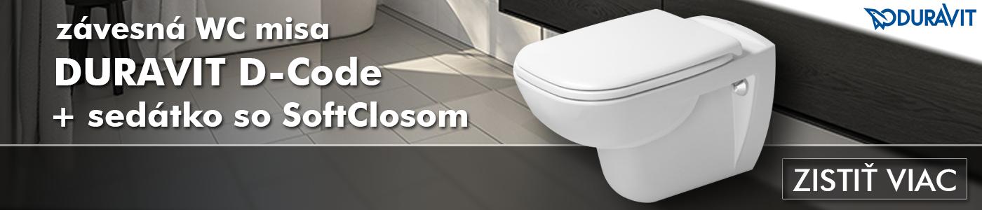 WC misa DURAVIT D-Code+ sedátko SoftClose